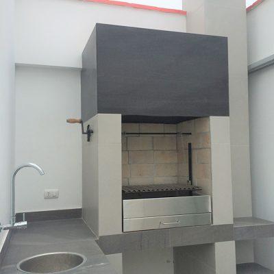 Estación de parrilla diseño Toscana