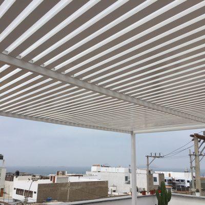 Techos sol y sombra de aluminio para terrazas